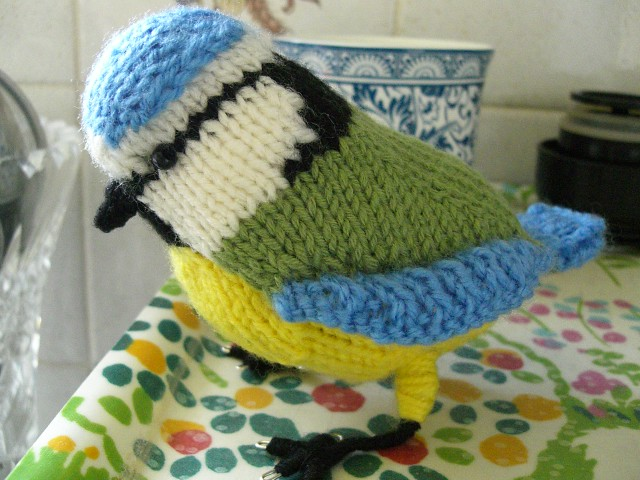 Knitted Bird Pattern : Knitted Blue Tit Bird -1 Flickr - Photo Sharing!