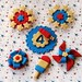 Vintage 4th of July Cupcake Toppers