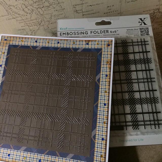 Xcut tartan embossing folder