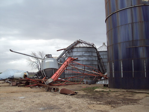 David Smith of Smith Farms in Missouri received disaster assistance from the Farm Service Agency after a tornado destroyed three of his grain bins. The 2014 Farm Bill reinstated the disaster programs that help producers recover from natural disasters.