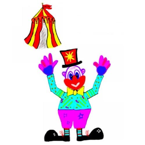 Circus. Clown. #doodle