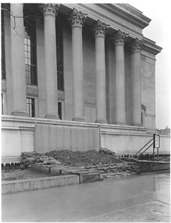 Photograph of a Flood Protection Barricade at the National Archives Building 7th Street Entrance, 03/12/1935