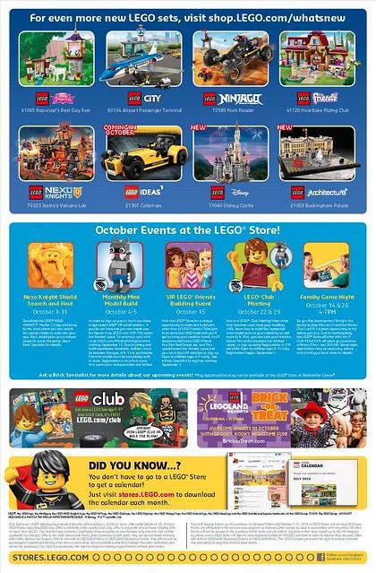 Lego Store Calendar October 2016 page 2
