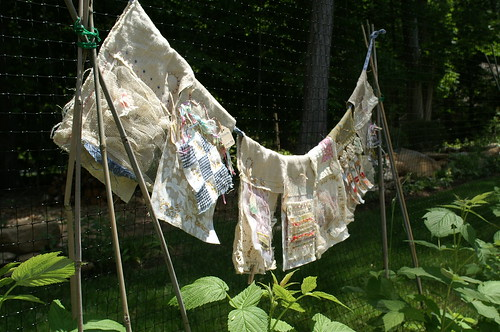Prayer Flag Project:  Week 1 in Garden