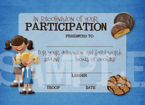 Girl Scout Cookie Certificate