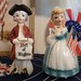 Vintage Betsy Ross and Bill of Rights Guy S&P Shakers