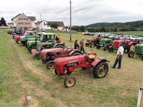 old tractor lineup