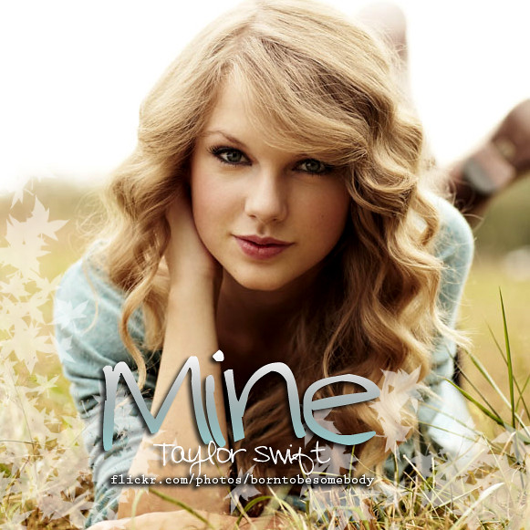 Taylor Swift Mine CD Cover