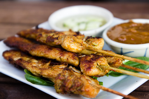 Chicken Satay at Smiling Banana Leaf