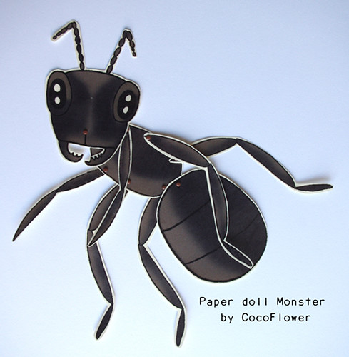 Big ant paper dolls