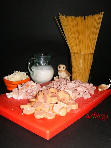 Espaguetti carbonara-ingredientes