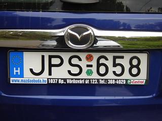 Autokennzeichen: Ungarn