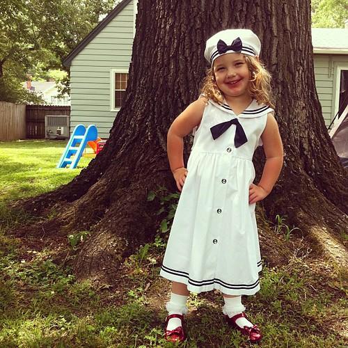 My little sailor girl.