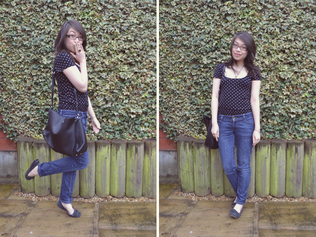 daisybutter - UK Style Blog: what i wore, playsuit, jeans, denim, topshop, zara, high street, fashion blogger