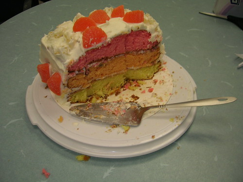 Three Layer Tutti-Frutti Cake