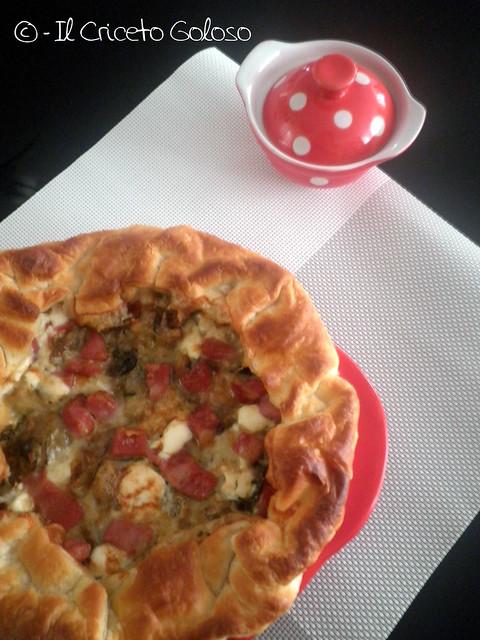 Tortino di carciofi mortadella e gorgonzola 2