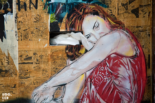 Jana & JS, Street Art Stencil Work in London. Photo ©Hookedblog / Mark RIgney