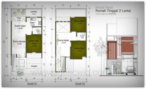 Rumah Tipe PEMATANG SAWAH 2 Lantai. #6x13m2