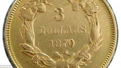 1870s three dollar god reverse