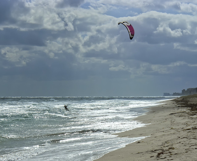 Kite Surfing on South Hollywood Beach