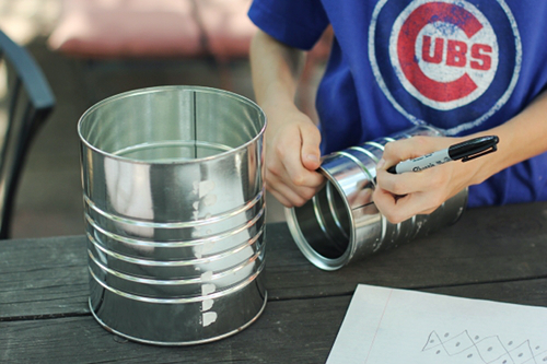 Simple Tin Can Lanterns Craft Camp Skip To My Lou