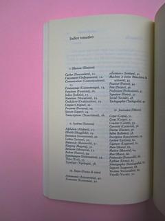 Roland Barthes, Variazioni sulla scrittura. Einaudi 1999. [Responsabilità grafica non indicata]. Indice tematico: pag. 73 (part.), 1