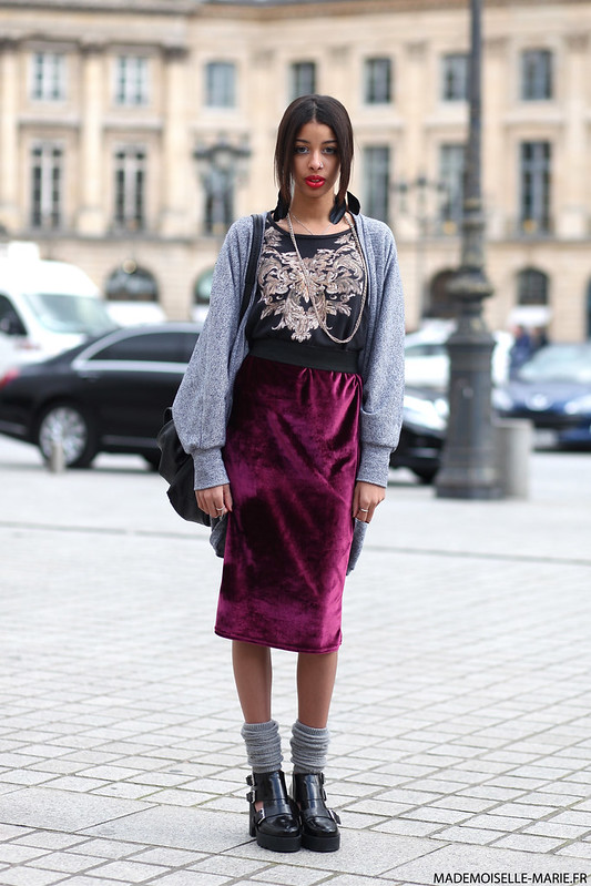 Ines at Paris fashion week