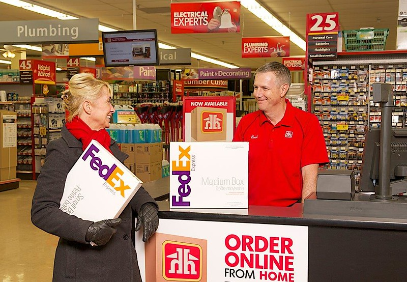 Canada's Home Hardware will be able to house full-service FedEx Authorised ShipCentres(r)