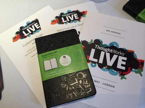 Thoughtworks Live 2014 London - Combining Online and Offline with Moleskine Evernote