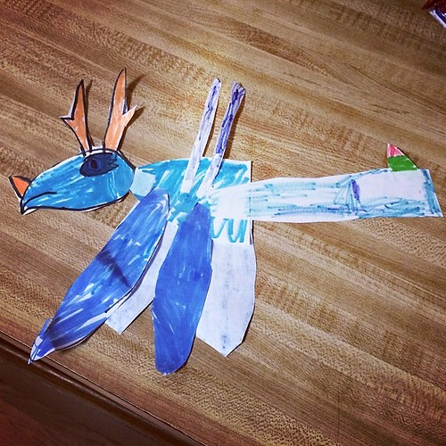 """I knew Mother's Day was coming up, so I made you this dragon."" I swear, 7 is my favorite age yet."