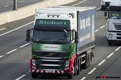 Volvo FH 6x2 Tractor with Tesco 3 Axle Curtainside Trailer - PX11 CDK - H4730 - Gillian Margaret - Eddie Stobart - M1 J10 Luton - Steven Gray - IMG_4526