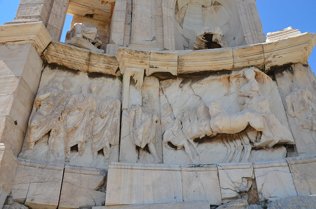 Philopappos Monument, an ancient Greek mausoleum and monument dedicated to Gaius Julius Antiochus Epiphanes Philopappos (a prince from the Kingdom of Commagene),  116 AD, Athens