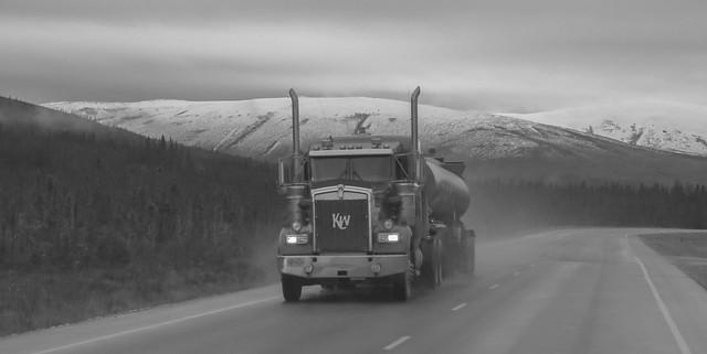 an Ice Road Trucker at Dalton Highway, Alaska