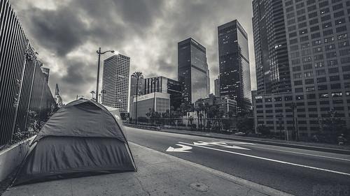 sunrise losangeles 1022mm downtownlosangeles 110freeway canon7d ©shabdrophoto