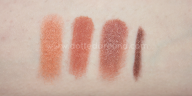 neve cosmetics desert swatches comparison