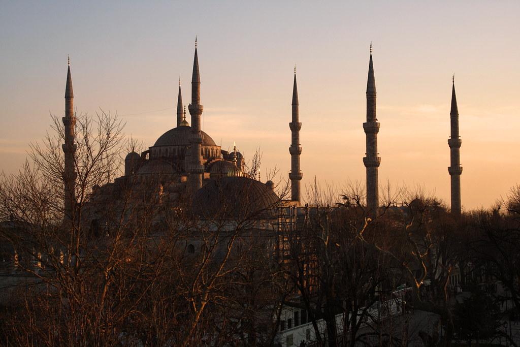 Setting Sun In Istanbul