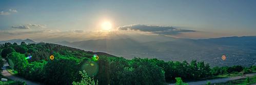 sunset panorama nature landscape nikon pano panoramic macedonia photomerge skopje vodno d5100