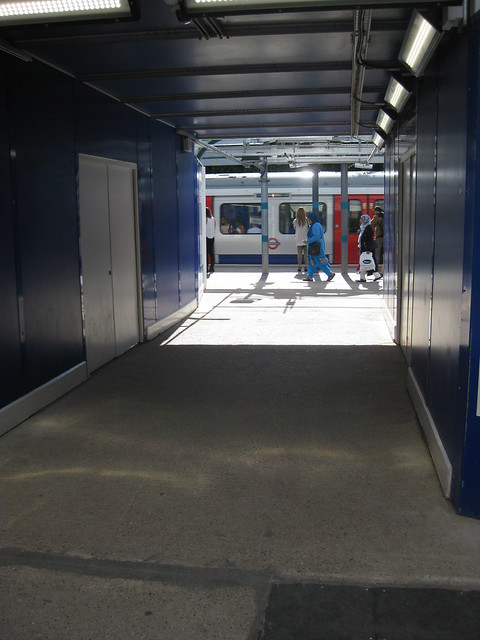 The new Whitechapel LUL station begins to emerge