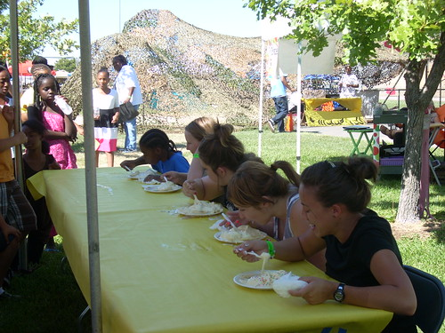 Kids Banana Split Eating Contest