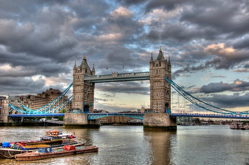 Bridge Towers, London (Cloudy Evening)