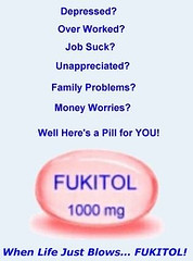 Fukitol -- When Life Just Blows .....item 1..Burning midnight oil  -- The company fridge is stocked with Red Bull to help the humans keep up  (Setpember 19, 2011) ... by marsmet523