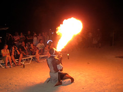 fire, stunt performer, performance art,