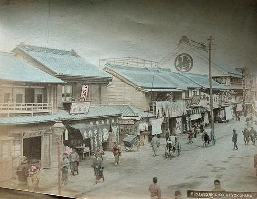 YOKOHAMA STREET SCENE 1880S by roberthuffstutter