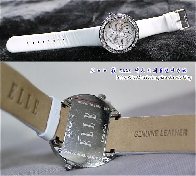 4 不銹鋼 鑲嵌水晶 真皮錶帶 30米防水 日本石英機芯