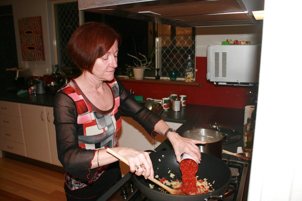 Rachel cooking