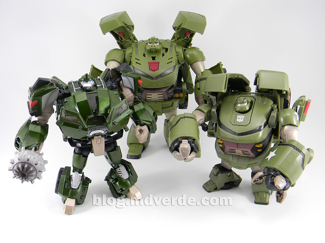 Transformers Bulkhead - Prime First Edition Takara - modo robot vs Bulkhead Animated