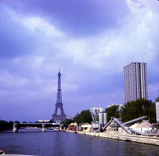 France   -   Paris -  Eiffle Tower from the Seine -  May 1970