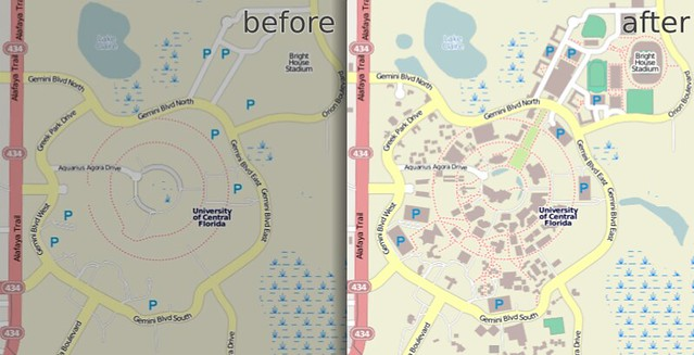 University of Central Florida in OpenStreetMap