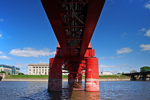 red bridge over the schizophrenic river
