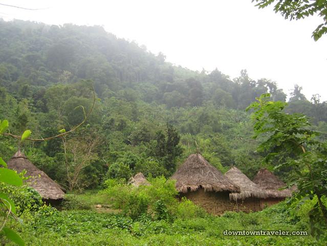Ciudad Perdida village huts
